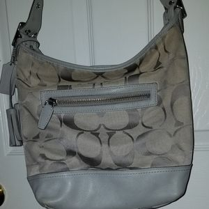 Coach Grey large tote bag